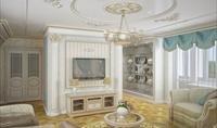 Інтер'єр залу в класичному стилі