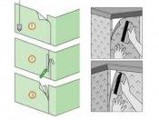 як клеїти вінілові шпалери на паперовій основі на зовнішньому куті
