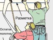 як клеїти вінілові шпалери на паперовій основі на стелю